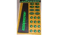KIT de 21 Stickers de Protection ALIENSKIN Carbon