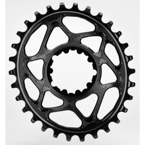 Plateau ABSOLUTE BLACK OVAL SRAM GXP Offset 6mm / Narrow Wide / Noir, Rouge, Vert  / 26-28-30-32-34t
