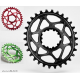 Plateau ABSOLUTE BLACK OVAL SRAM BOOST GXP Offset 3mm / Narrow Wide / Noir, Rouge, Vert  / 26-28-30-32-34t