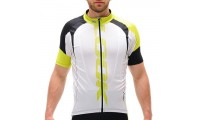 Maillot LOOK PRO TEAM Blanc/Acid Manches courtes t. L